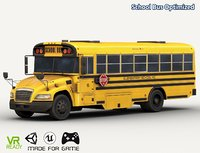 optimized school bus 3D model