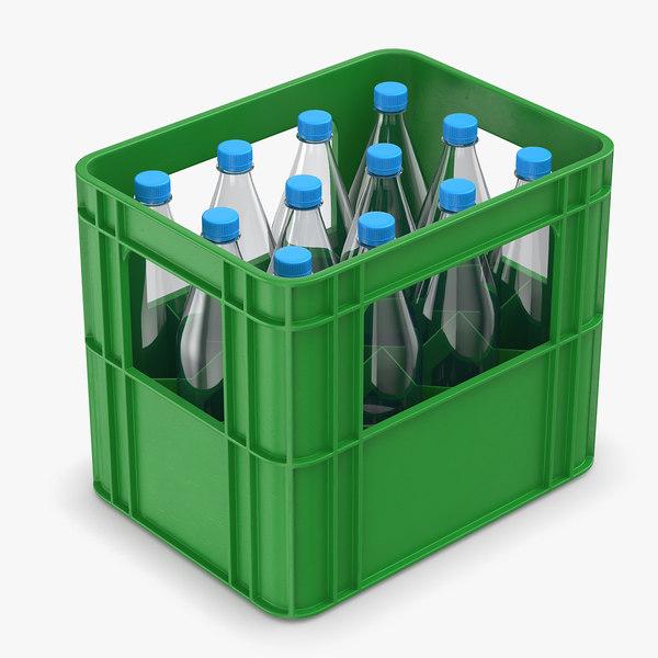 3D plastic crate bottles