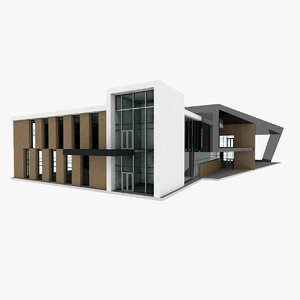 conceptual store building 3D model
