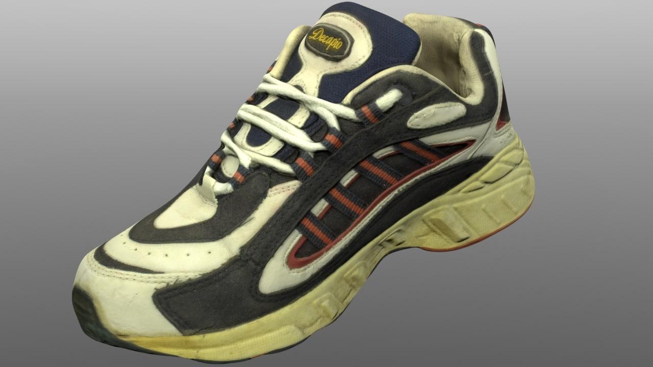 3D old sneaker model