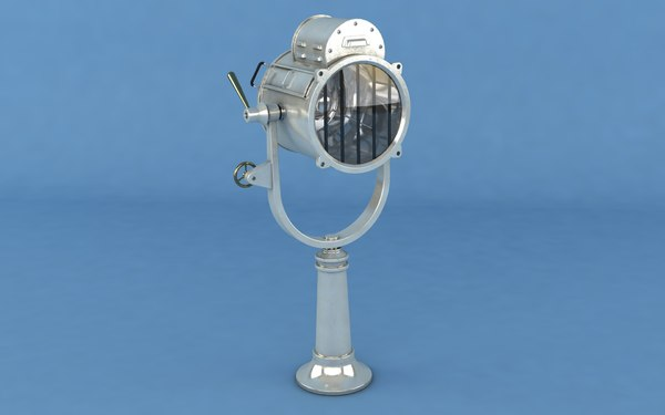 3D model marine searchlight