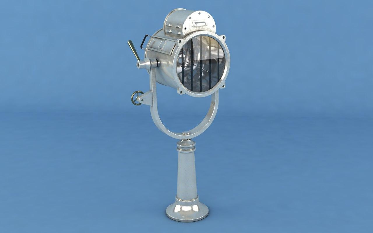 3D model marine searchlight