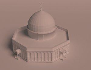al-aqsa mosque 3D model
