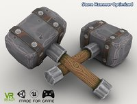 optimized stone hammer 3D model