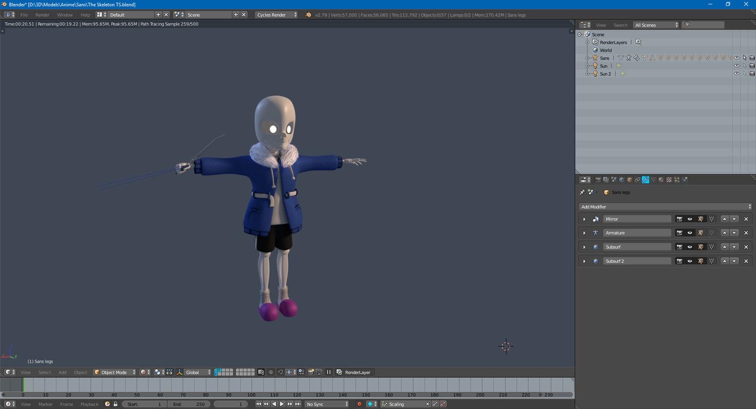 3D sans skeleton