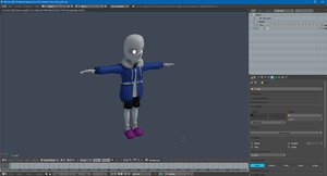 3D sans skeleton gameready