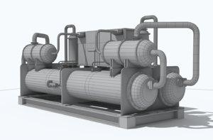 3D industrial chiller