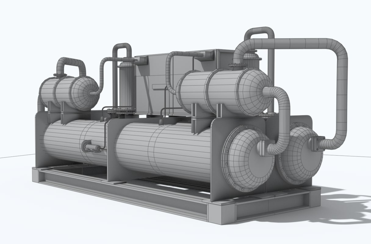 3D industrial chiller