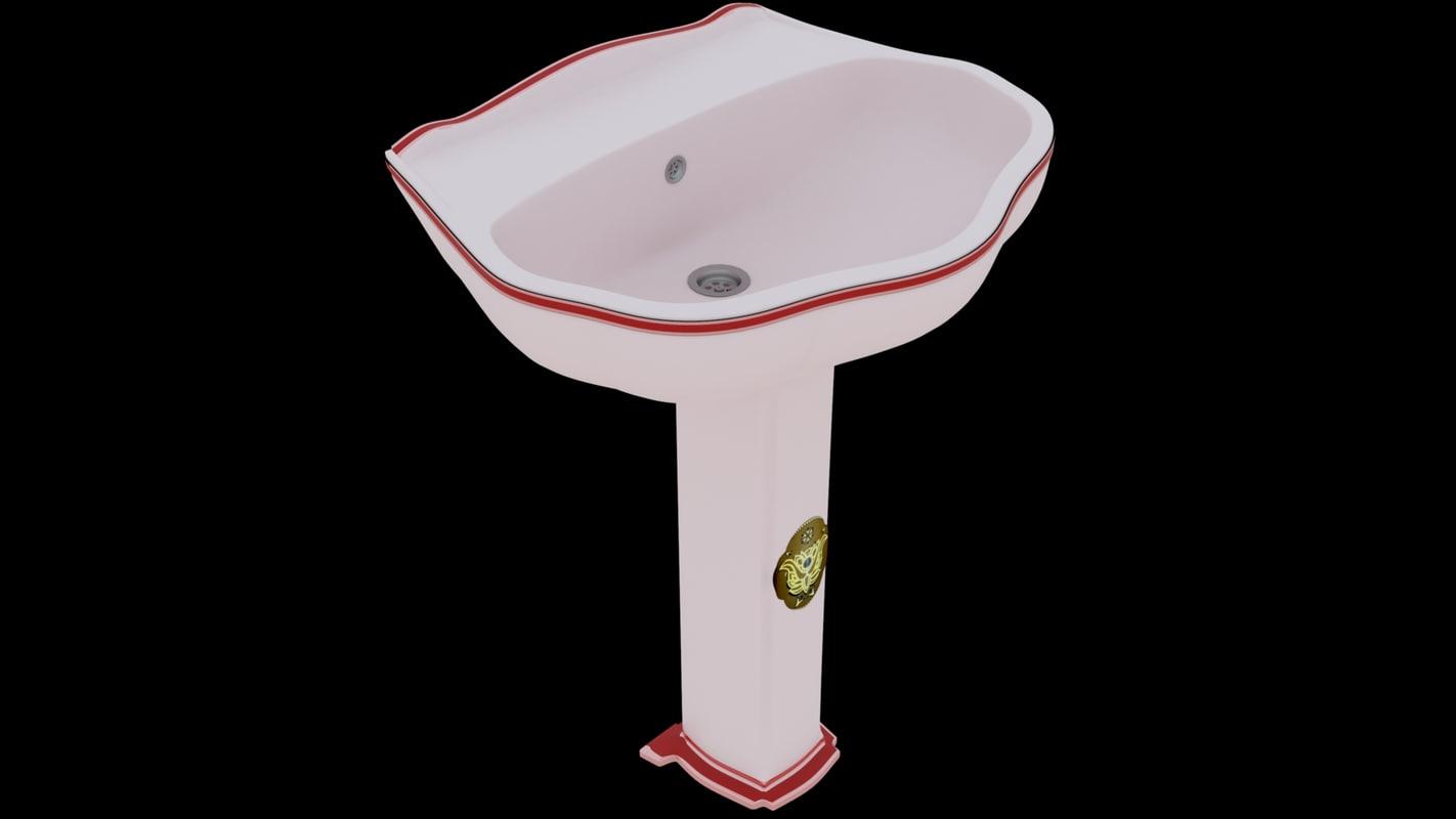 3D bathroom wash basin model