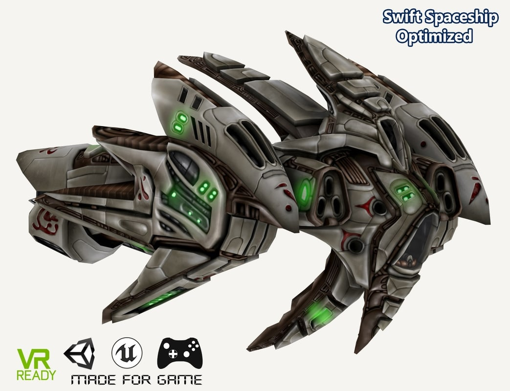 3D optimized swift spaceship