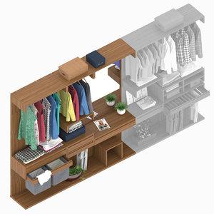 bosco wardrobe 1 3D model