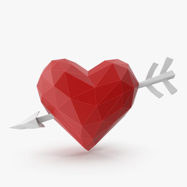 3D heart arrow