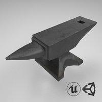3D medieval anvil
