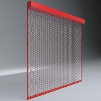 3D garage door shutter model