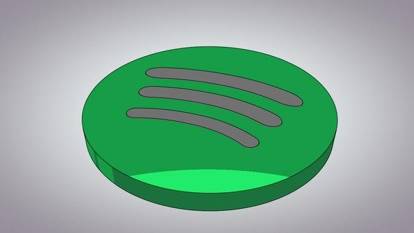 spotify logo 3D model