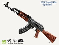 optimized ak 47 rifle 3D model
