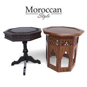 moroccan tables 3D