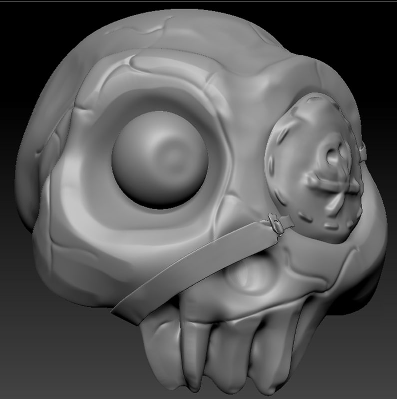 skull pirate model