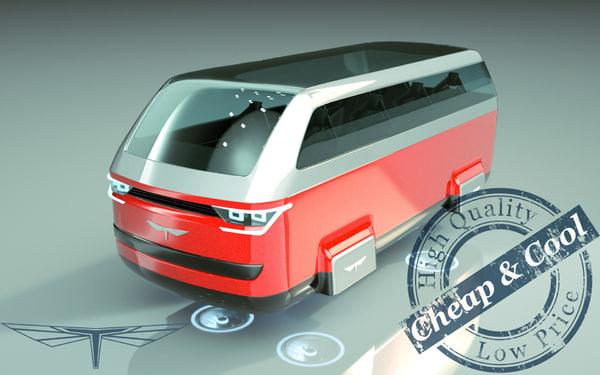3D hover minivan van