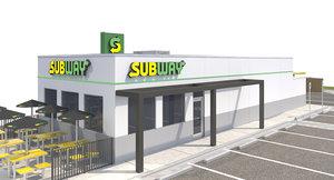exterior subway site 3D model
