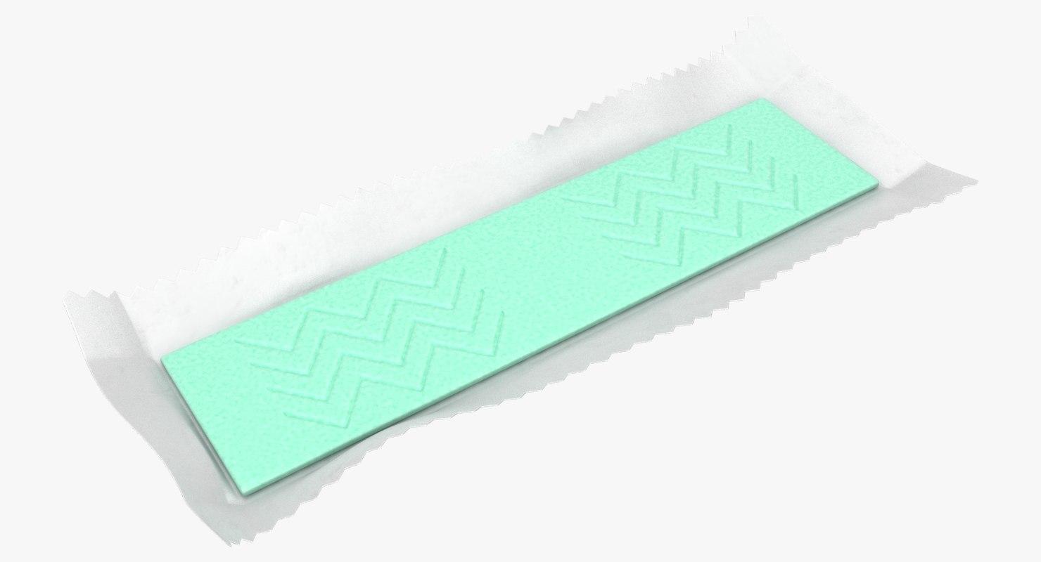 chewing gum 02 green 3D