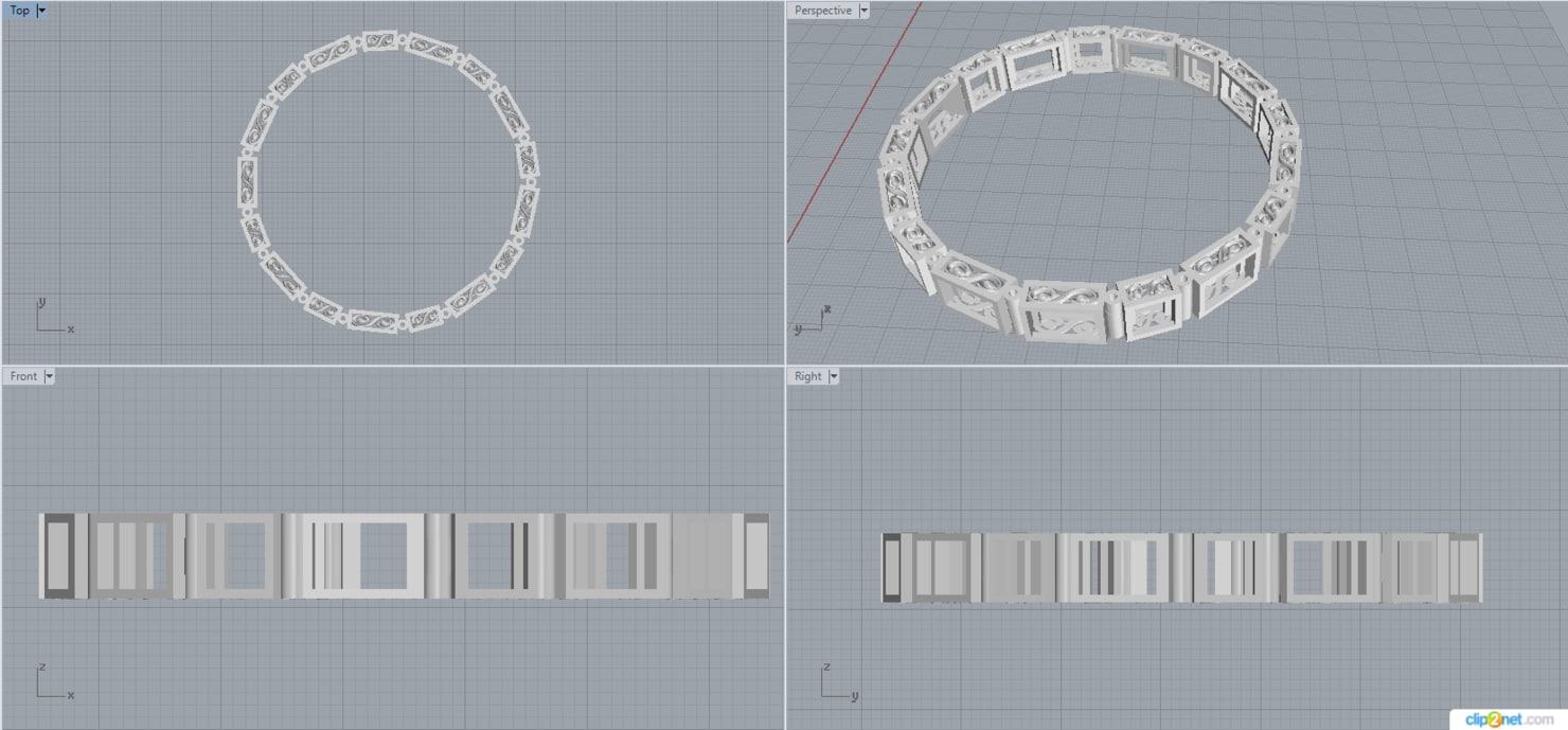 bracelet link 3D
