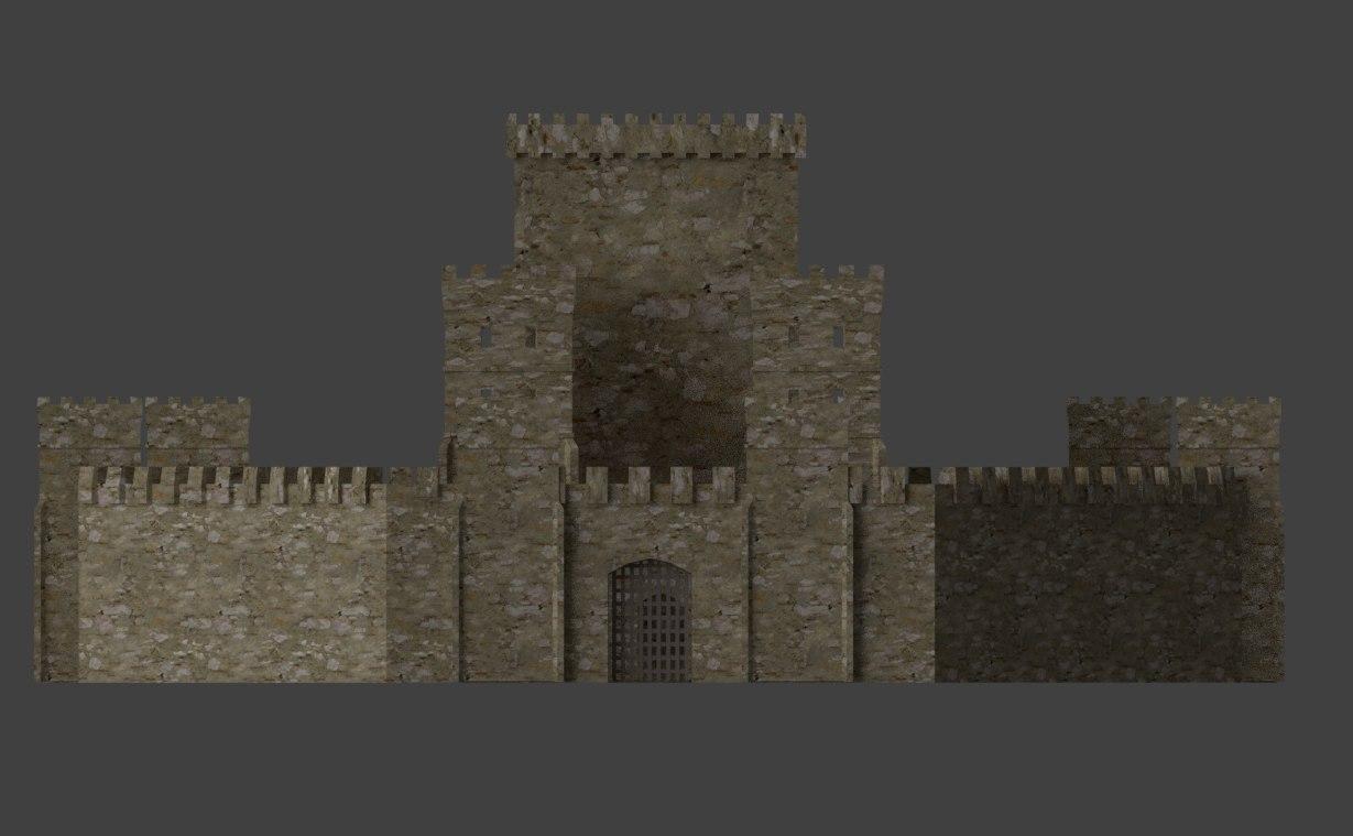 castle stone 3D model
