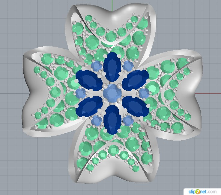 3D model flower jewelry