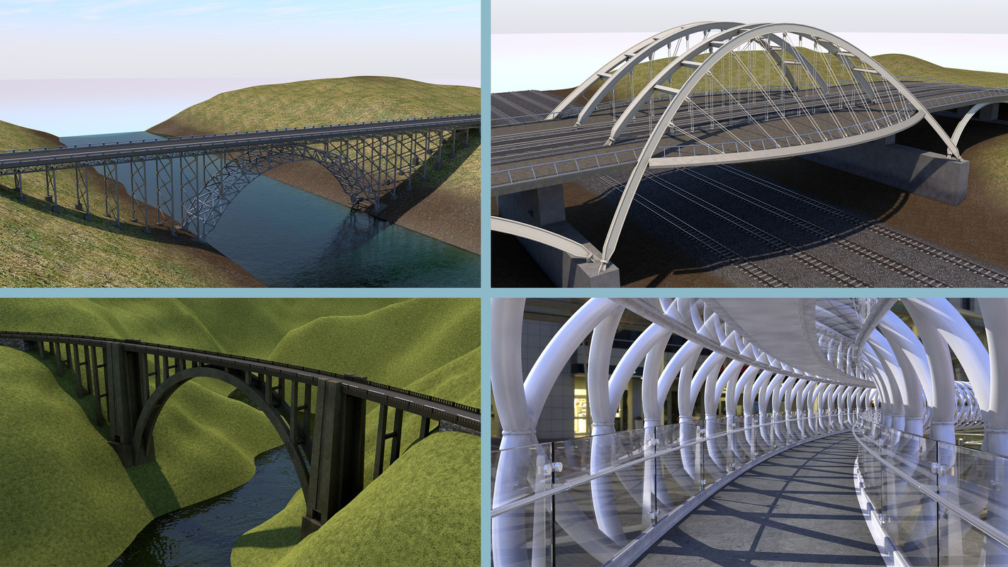 3D bridge arch pedestrian