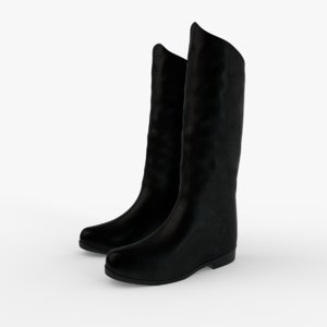 3D model black boots