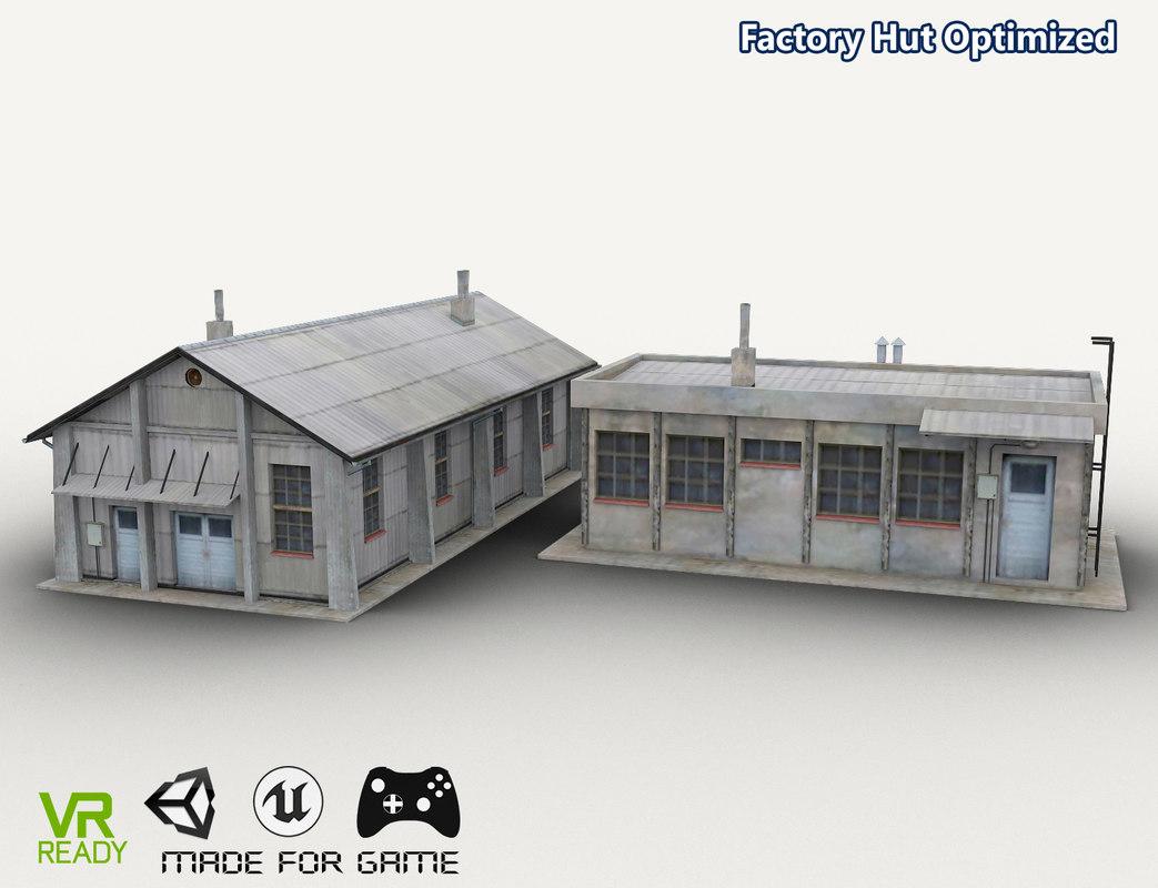 3D optimized factory hut building