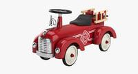 riding toy firetruck 3D model