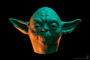 3D yoda character film