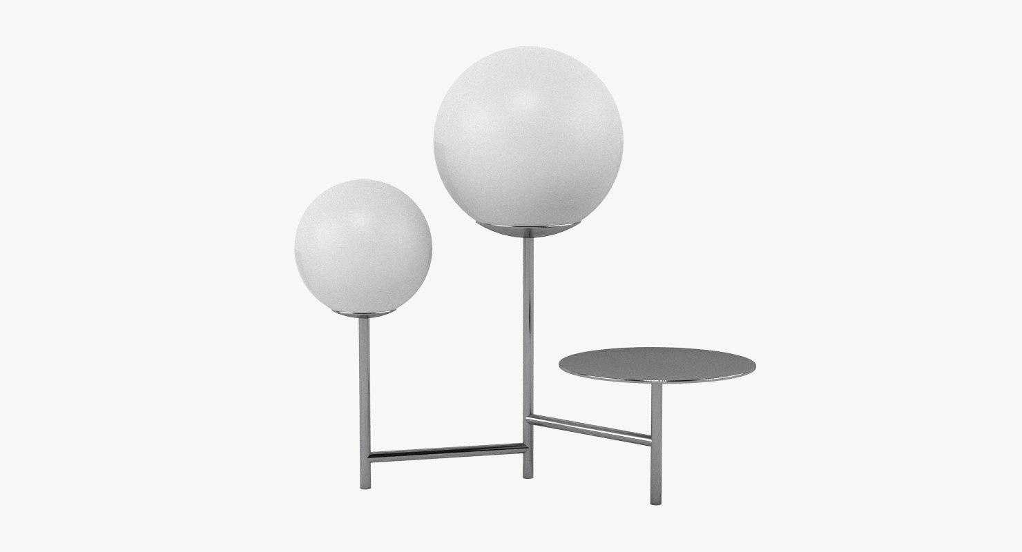 3D moon lamp light model