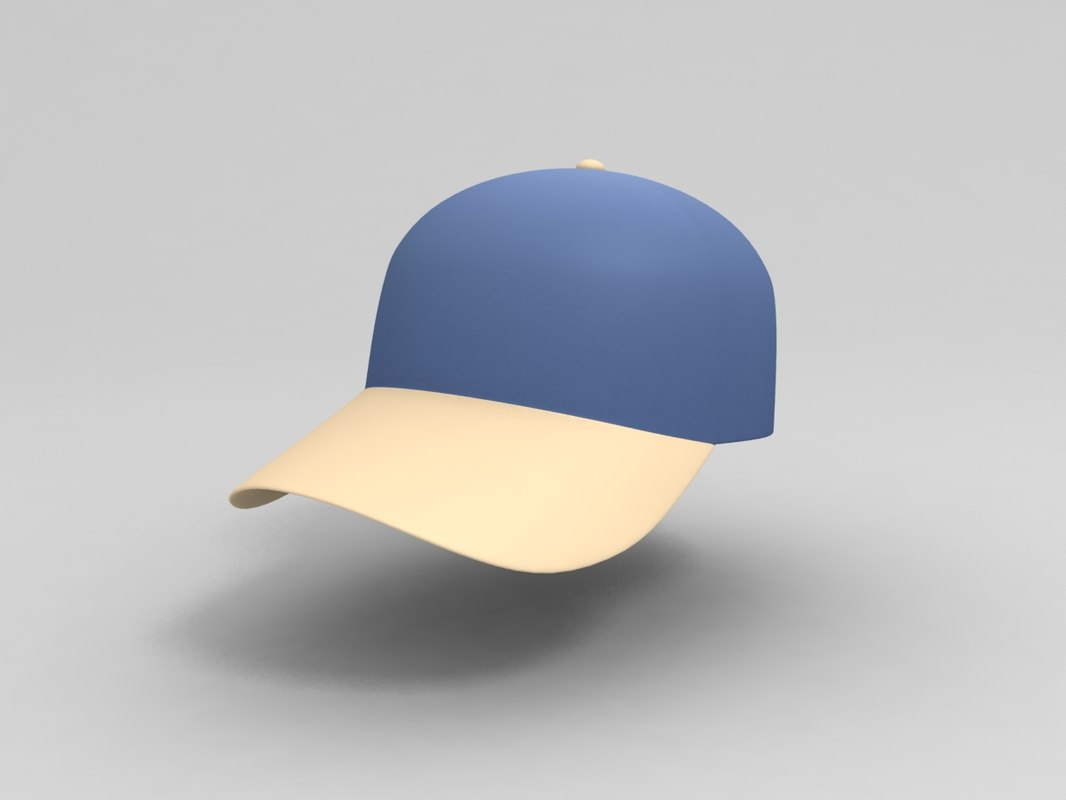 cap cartoon 3D model