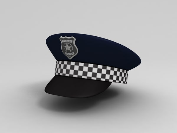 3D model police hat