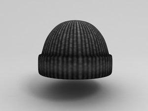 wool hat 3D model