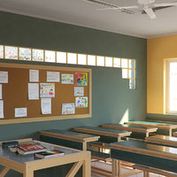 school class room 3D model