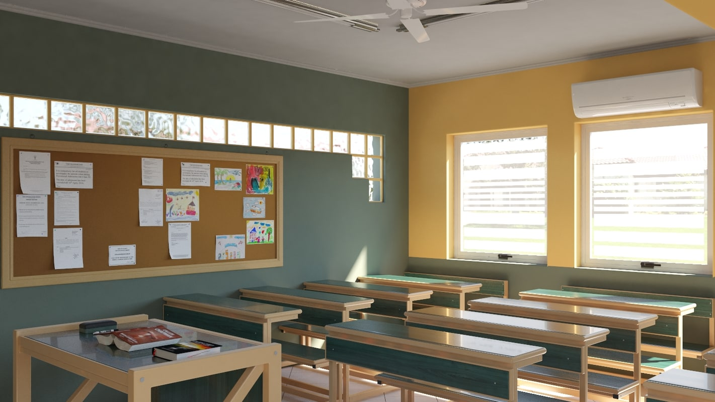 school class room 3D model
