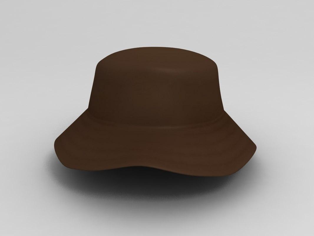 3D fishing hat model