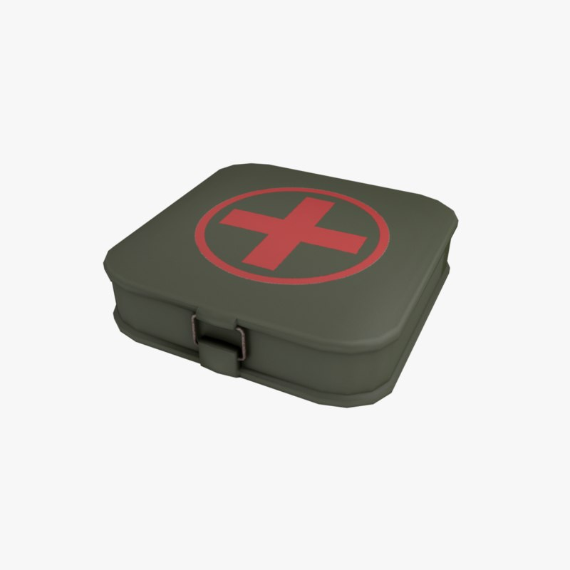 3D aid kit military model