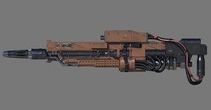 3D railgun model