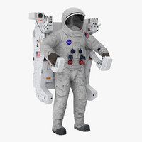 3D spacesuit a7l manned maneuvering