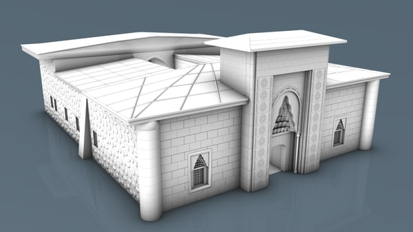 3D architectural amasya ottoman model