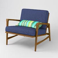 3D teak armchair danish style
