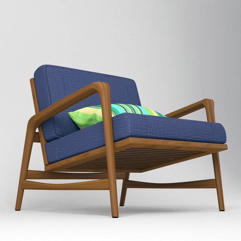 ... 3D Teak Armchair Danish Style ...