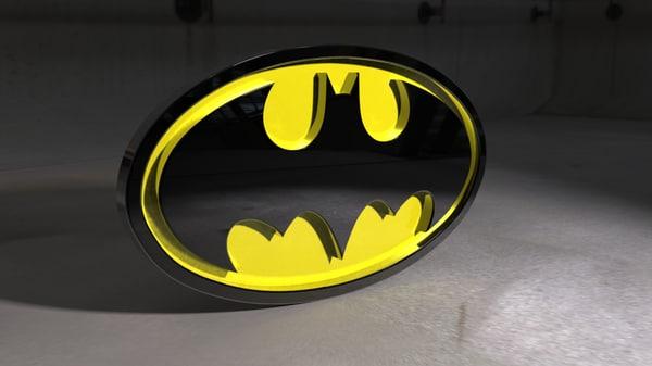 batman logo model