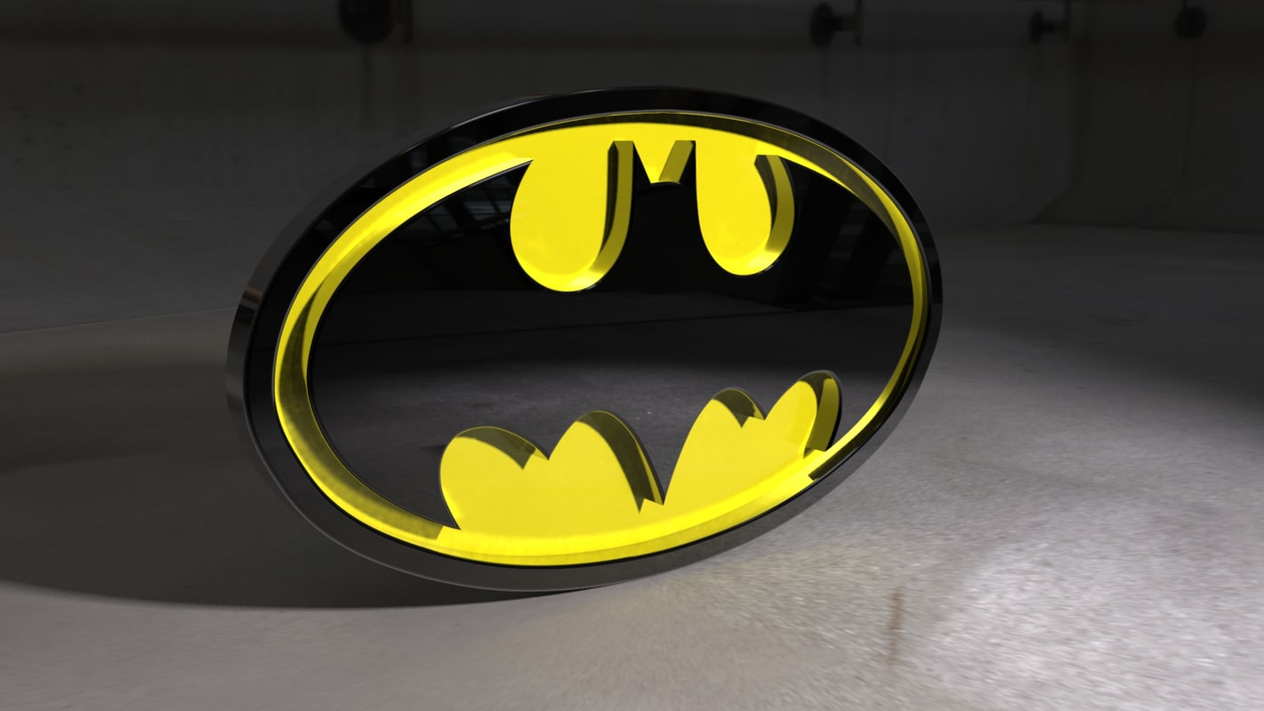 batman logo model