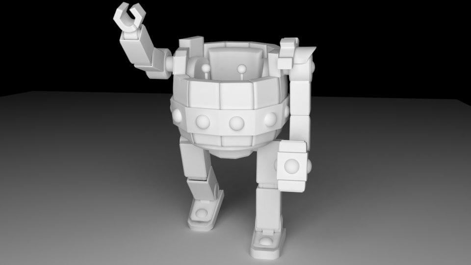 3D model clash battle machine