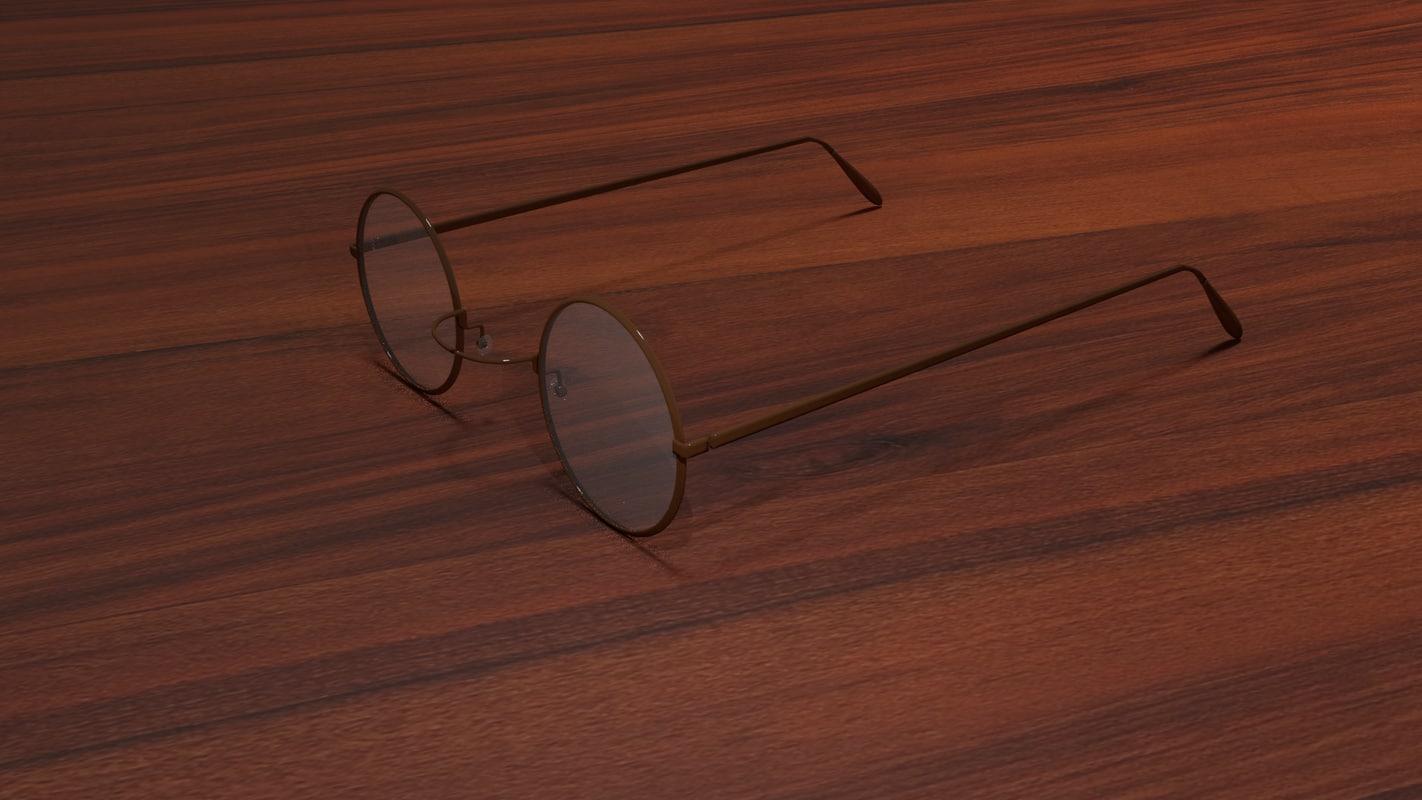 3D vintage eyeglasses model